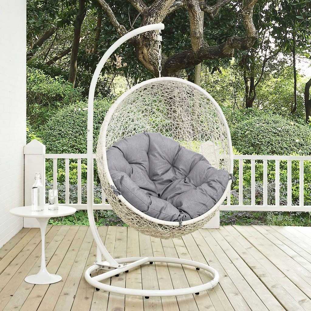 Hide Outdoor Patio Swing Chair With Stand (Multiple Finish