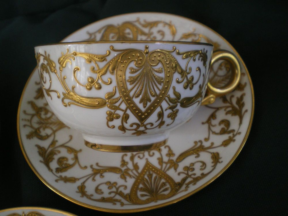 Antique Royal Worcester R H Macy New York Cup Amp Saucer