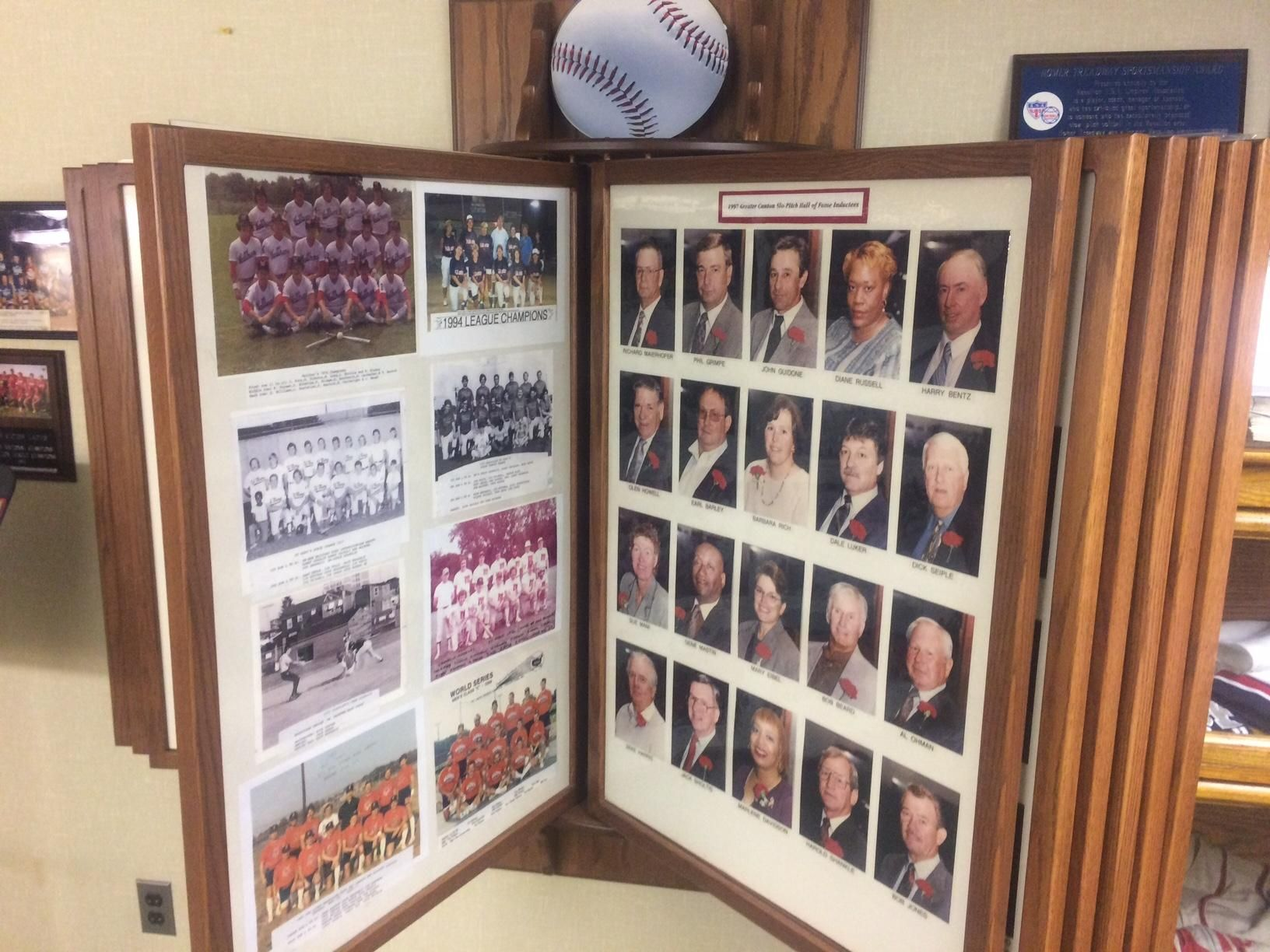 Greater Canton Slow-Pitch Softball Hall of Fame welcomes a dozen star players, a trusted umpire and a longtime sponsor.
