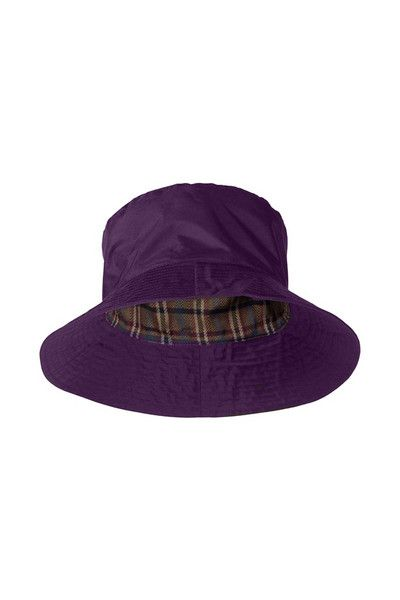 a12cb2cf91 Target Dry Ladies Storm Rain Hat - Aubergine With a stylish check lining  The Storm Hat for Ladies is a clever addition to your waterproof gear