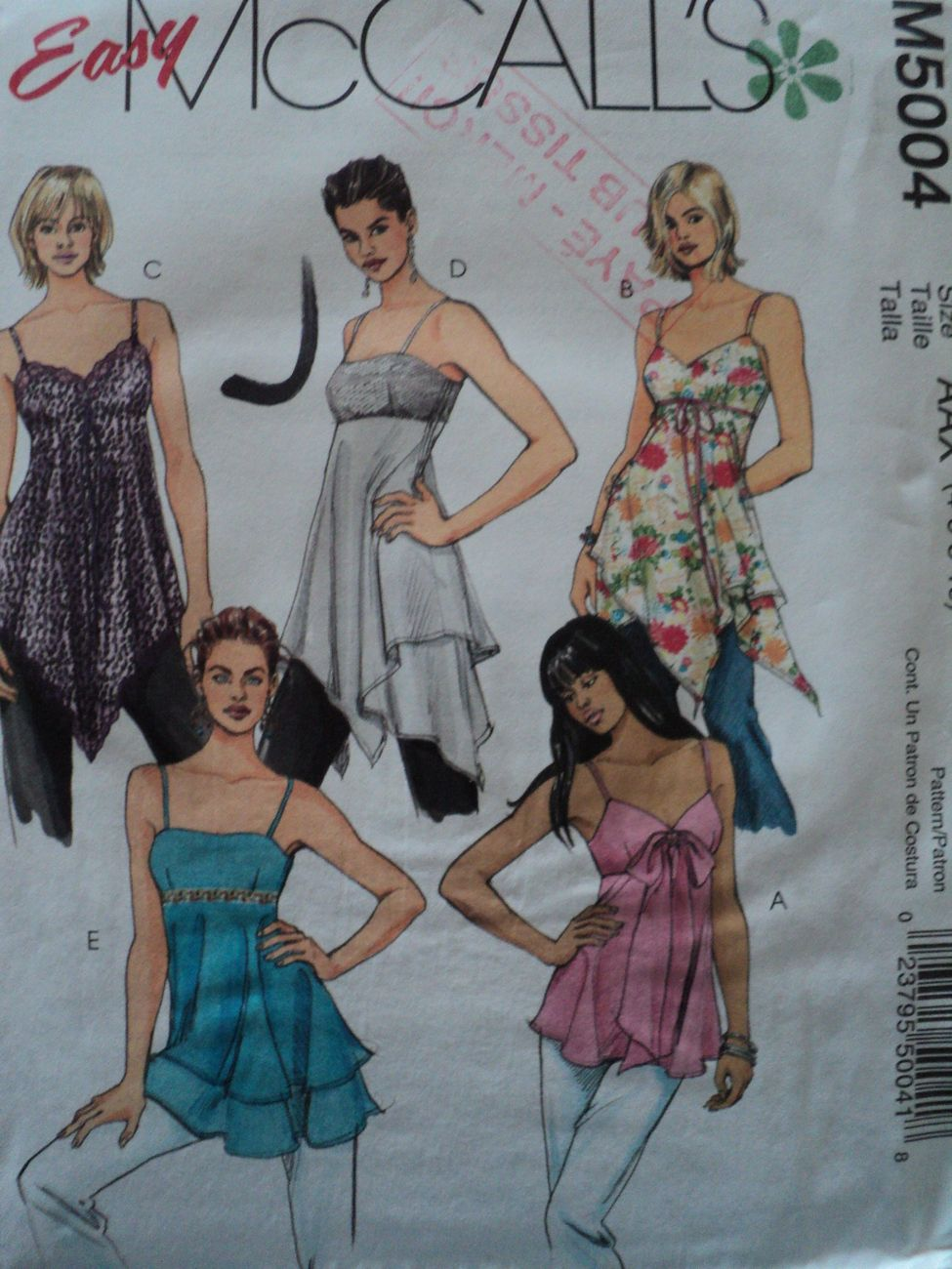sewing pattern 5004 mccall women top and tunic 4 to 10 $2.99 #patterns #Clothing