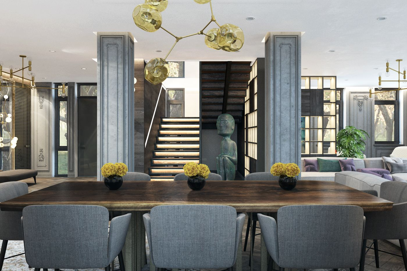 P-house interior on Behance
