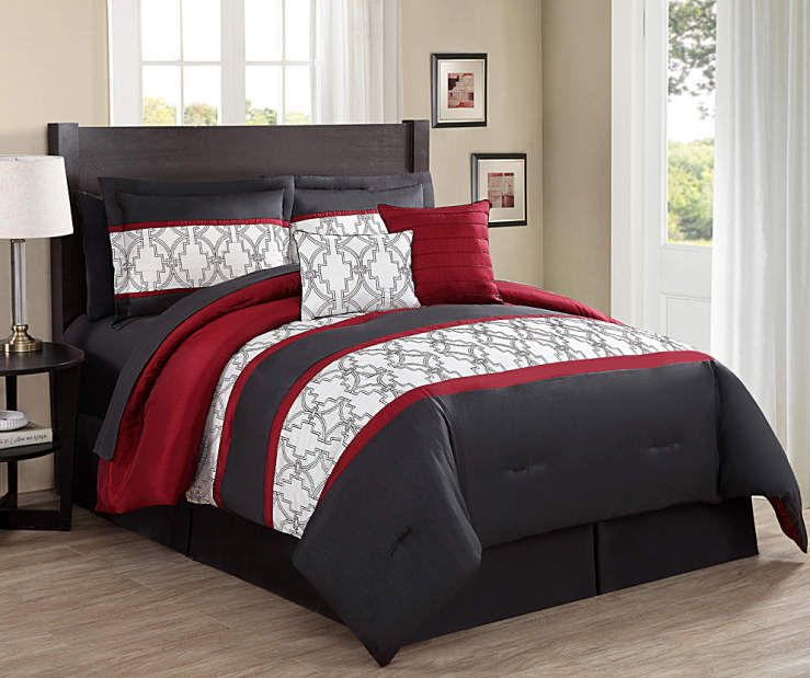 I found a Aprima Chase 10-Piece Embroidered Comforter Sets at Big