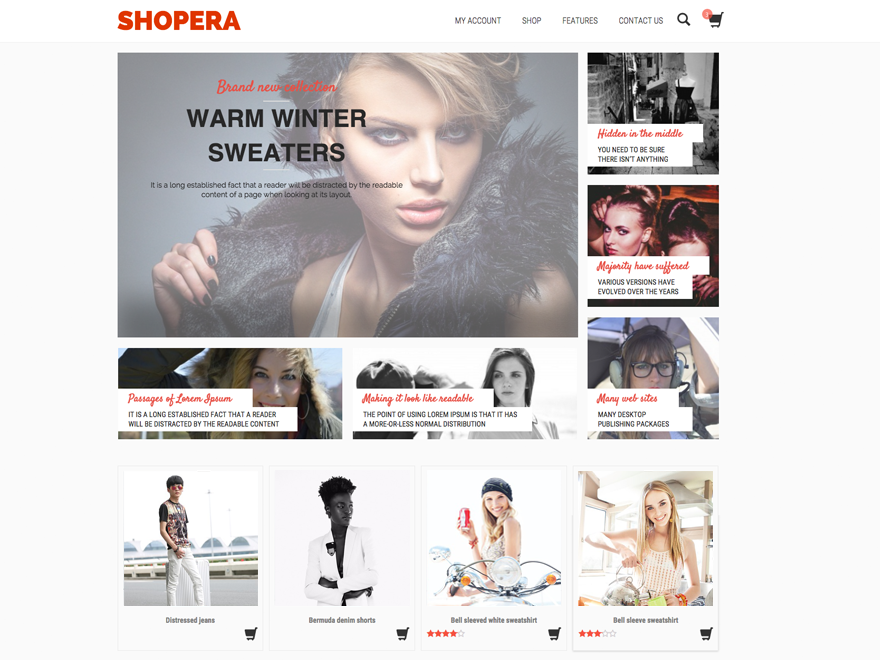 Shopera is FREE, spotless, present day, responsive and exceedingly adaptable WooCommerce subject. It's ideal for any sort of web shop. It looks awesome with a wide range of gadgets (portable...