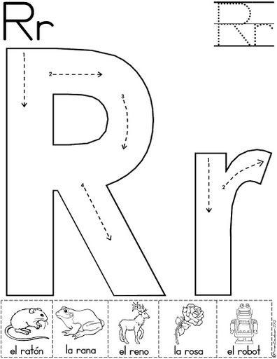 letra r fichas del abecedario y el alfabeto para descargar gratis ...