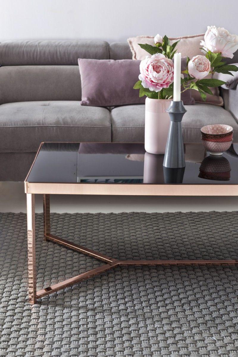 Wohnling Couchtisch Wl5 245 Aus Glas Mit Kupfer Gestell Wohnzimmer Kupfer Glas Modern Design Dekoration Sofa Table Design Furniture Living Room Decor