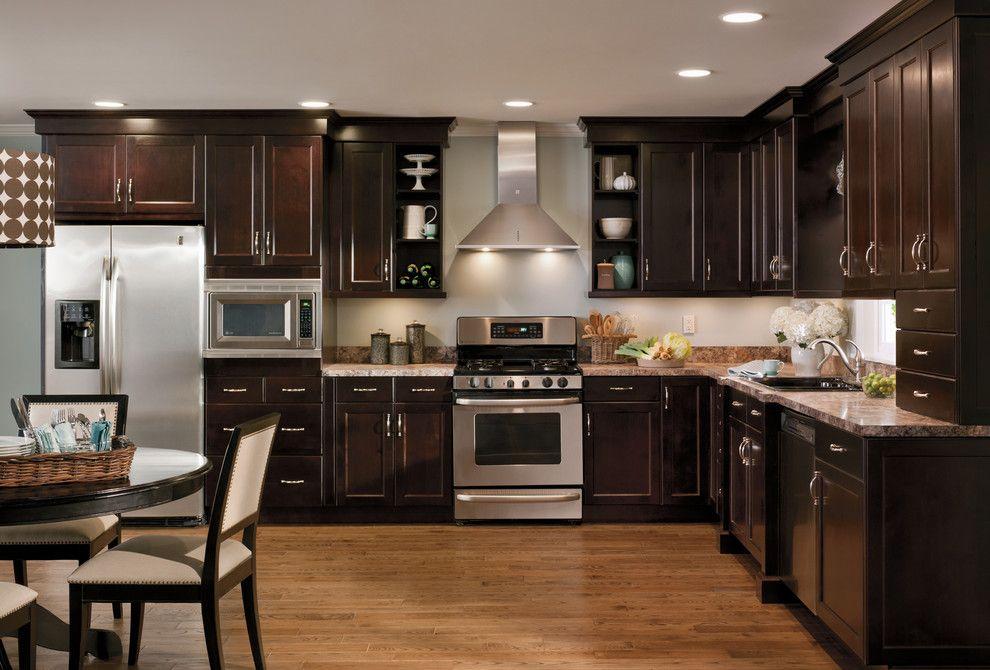 I Love Dark Cabinets Dark Wood Kitchen Cabinets Kitchen Cabinet Design Dark Kitchen Cabinets