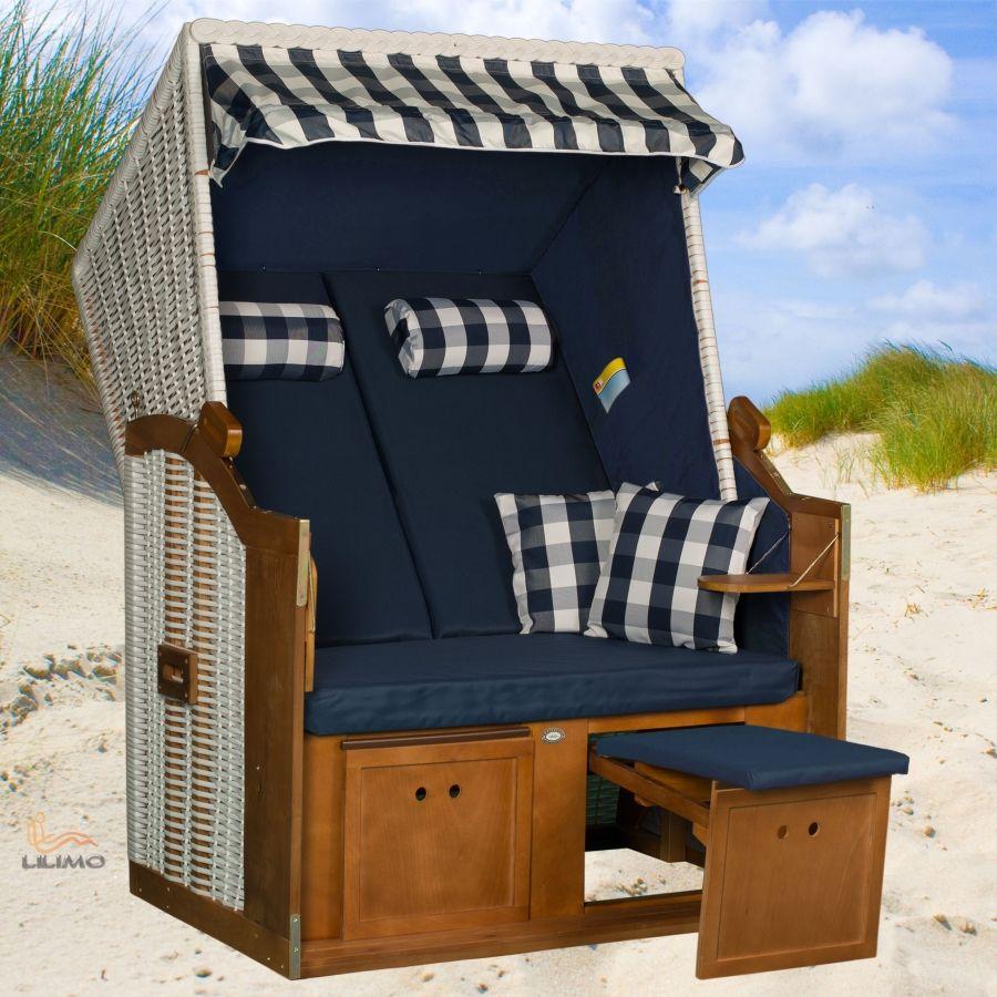 Wunderschöner Strandkorb im Stil der berühmten Ostsee-Strandkörbe ...