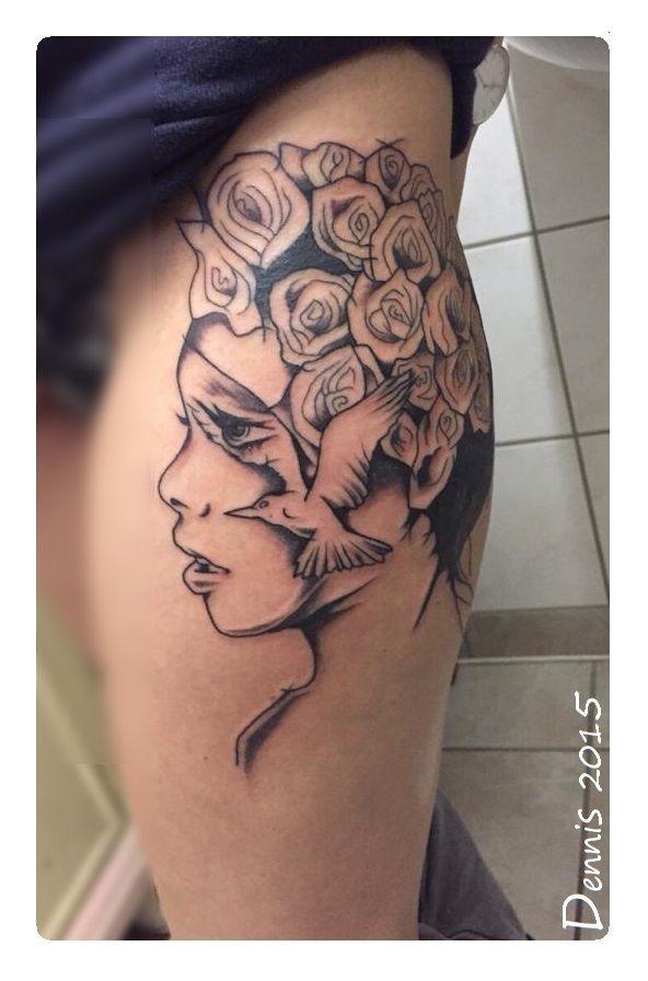 #tattoos #ink #tattooedgirls #bleedinghearttattoo #