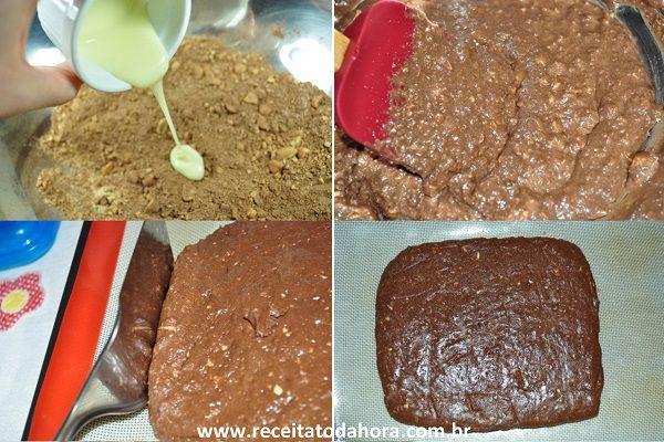 O Brownie de Chocolate Que Não Vai Ao Forno é delicioso e muito fácil de fazer. Além disso, ele é armazenado na geladeira, então é perfeito para ser degust