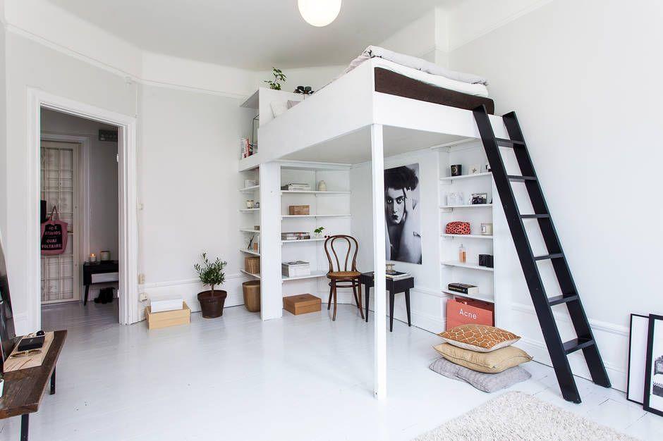 Lofty Loft Beds For Tiny Studio Apartments Apartments Lofty