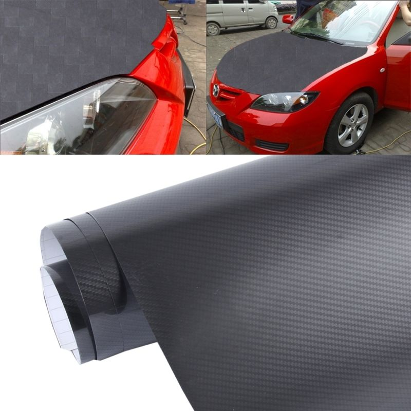 5d High Gloss Carbon Fiber Vinyl Wrap Sticker Decal Black Carace Carbon Fiber Vinyl Vinyl Wrap Exterior Accessories