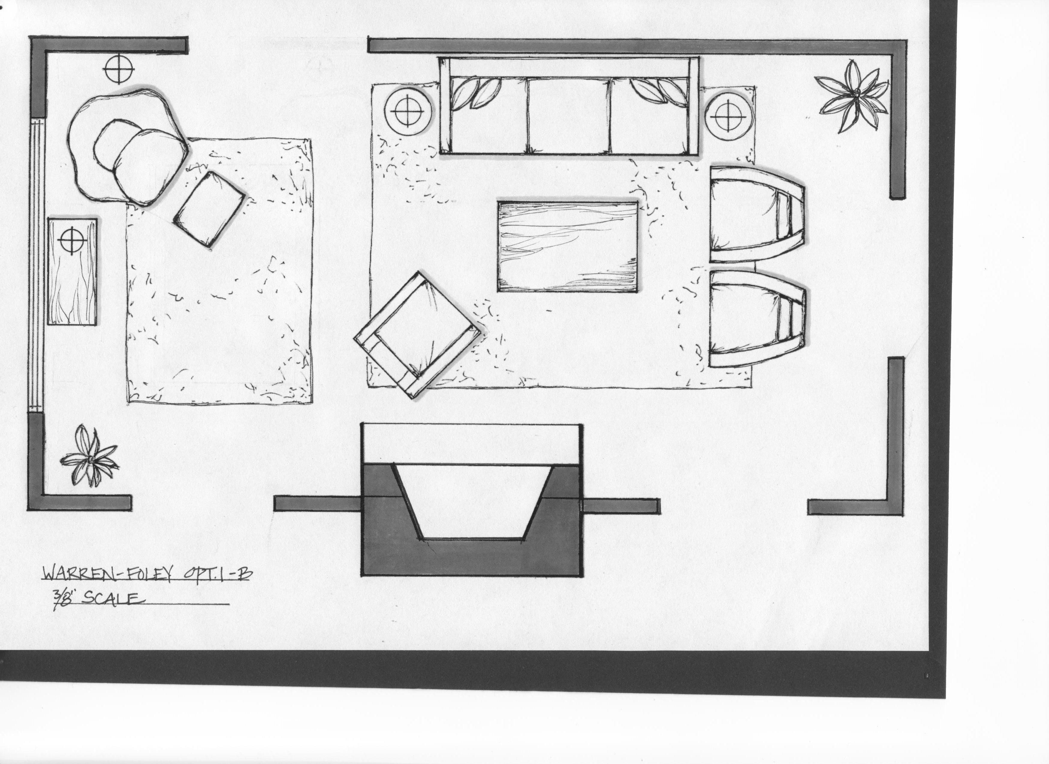 Living Room Layout Tool: Simple Sketch Furniture Living