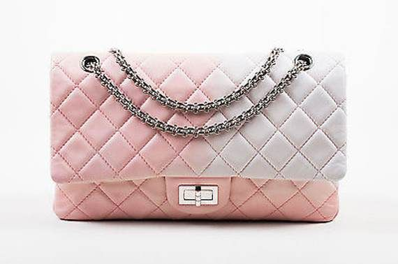 a67970281a98 Chanel Pink White Leather Ombre Degrade