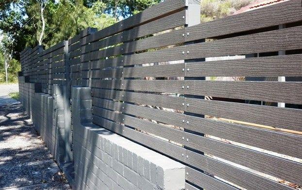 grey horizontal fences       Slat) 70mm x 15mm x 5400mm