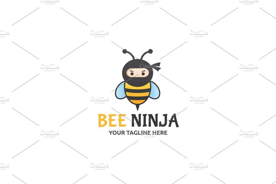Game hive logo template ad greyscaleflatblackamp