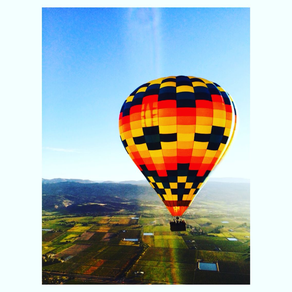 Hot air balloon ride in Napa Valley. Hot air balloon