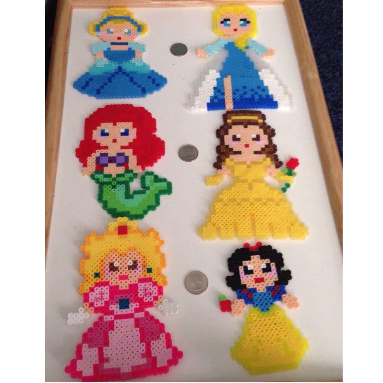 Princess Beads: Disney Princess (Cinderella, Elsa, Ariel, Belle And Snow