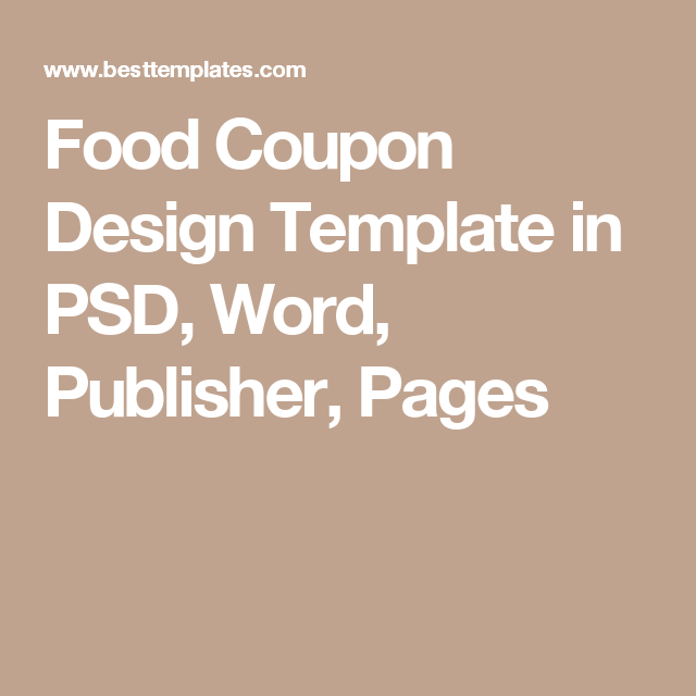 Food Coupon Template | Commercial printing and Template