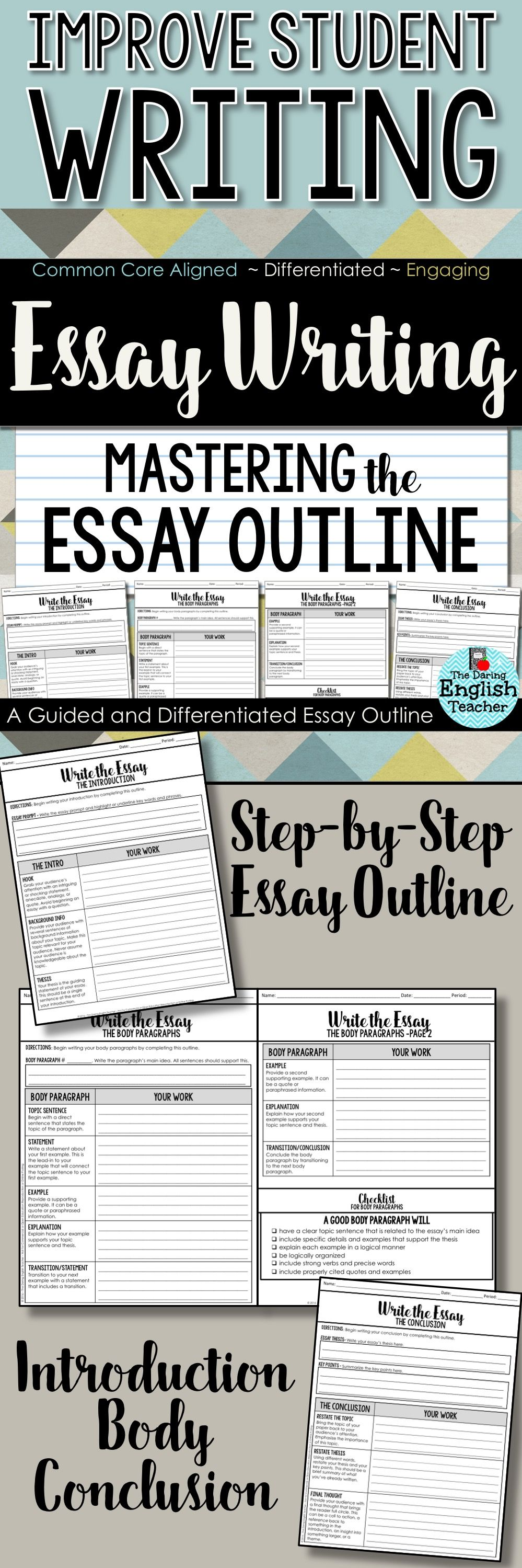 Essay Writing Mastering The Essay Outline With Guided Instructions  Essay Writing Mastering The Essay Outline With Guided Instructions