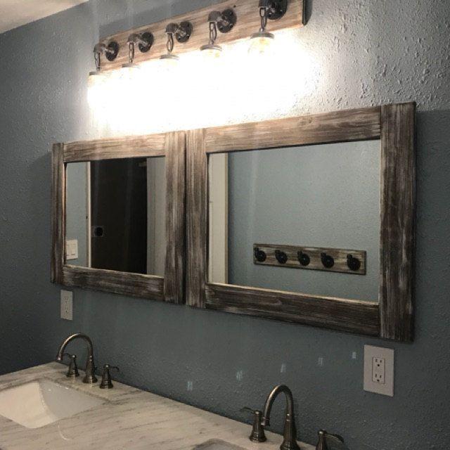 bathroom lighting and mirrors. Mason Jar Light And Mirrors By Lulight Shop Whitewash Fixture, Farmhouse Decor, Bathroom, Nautical Rustic Mirror, Bathroom Lighting