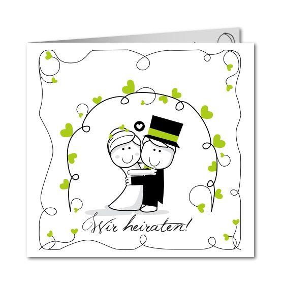Einladungskarte Hochzeit Lustiges Brautpaar (R 3181)