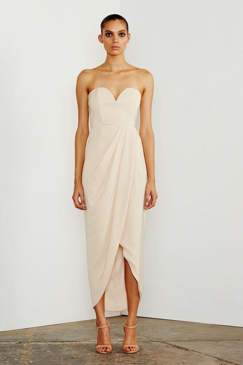 Amanda Core Knot Draped Dress by Shona Joy - Ivory