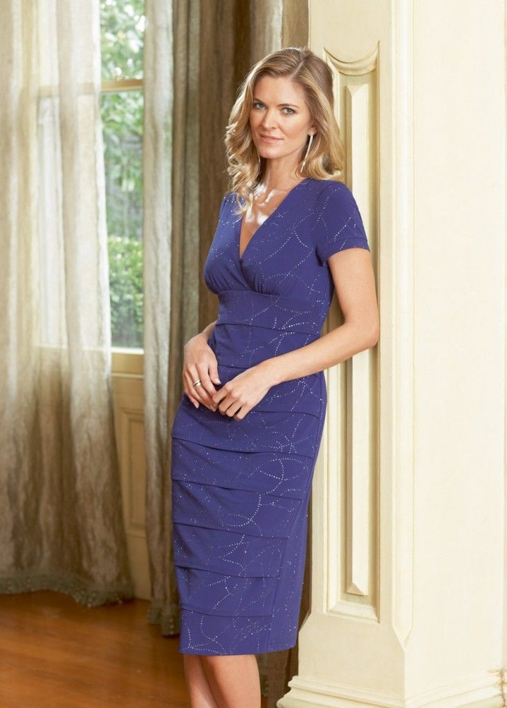 casual mother of the bride dress tea length | Fashion | Pinterest ...