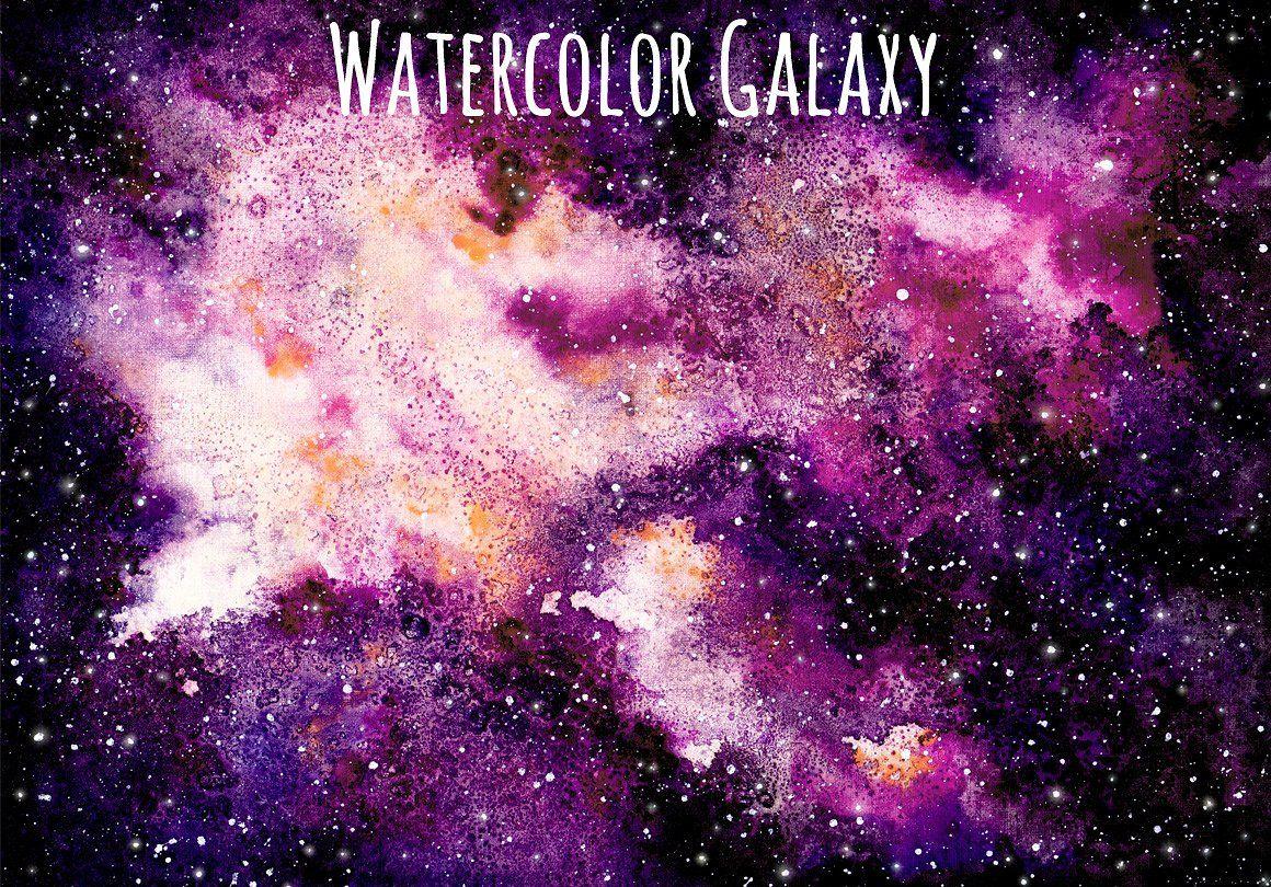 Watercolor Galaxy Set by Tilia on @creativemarket ...