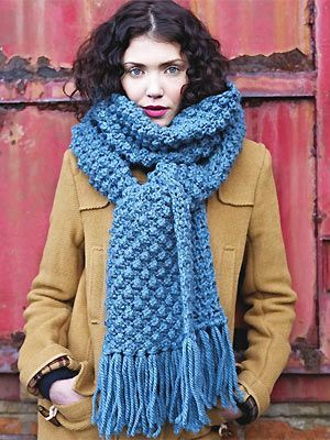 comment et quels points pour tricoter une charpe en laine. Black Bedroom Furniture Sets. Home Design Ideas