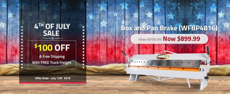 Box And Pan Brake Wfbp4816 Metal Fabrication Tools Box Fabrication Tools