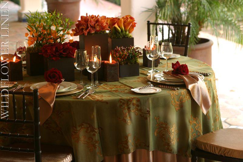 Wedding Linens Wedding Table Linens Fall Wedding Tables Wedding Tablecloths