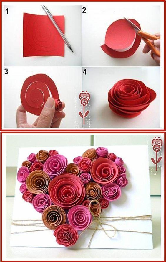 Как сделать цветы из бумаги своими руками для открытки