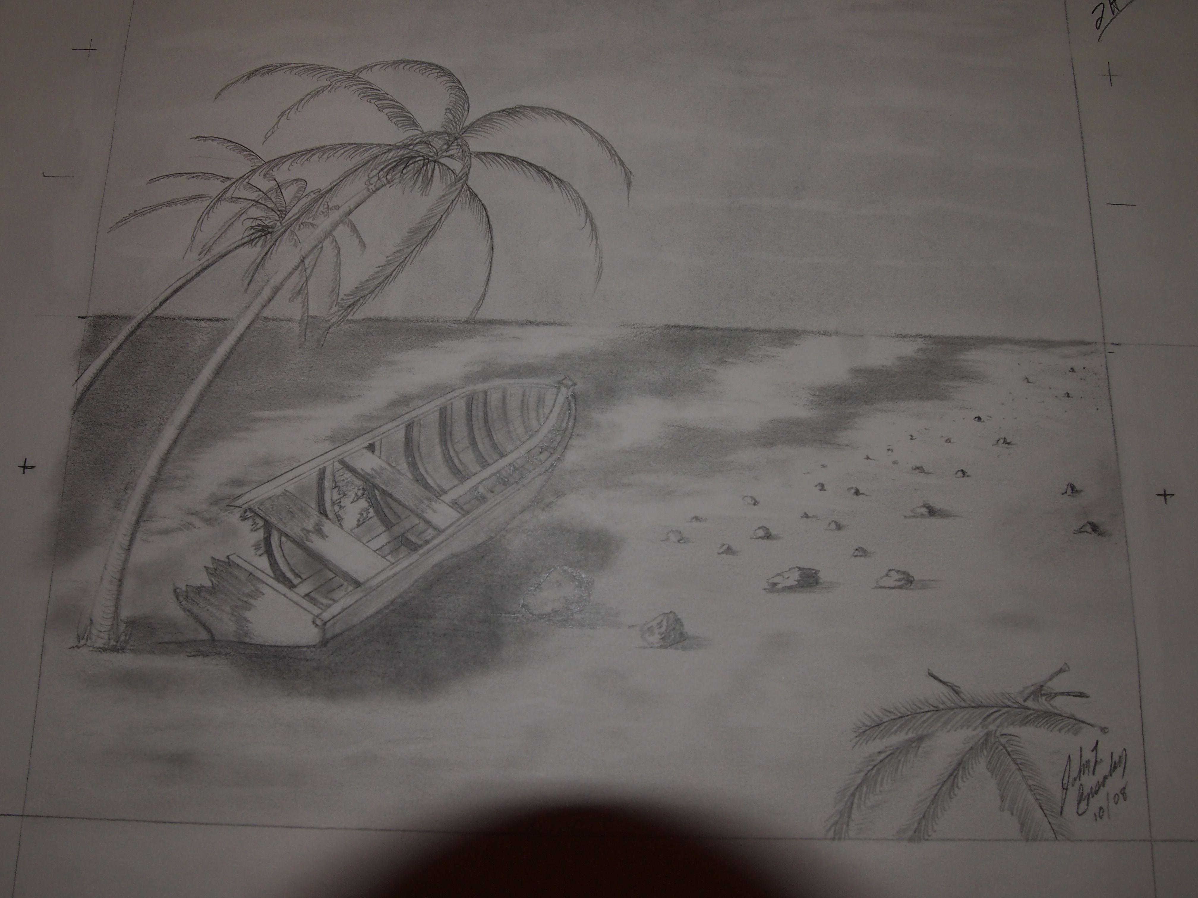 Solitude original drawing by john ensalaco pencil drawings colored pencils graphite