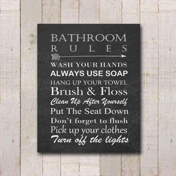 Unavailable Listing On Etsy Bathroom Rules Sign Bathroom Rules