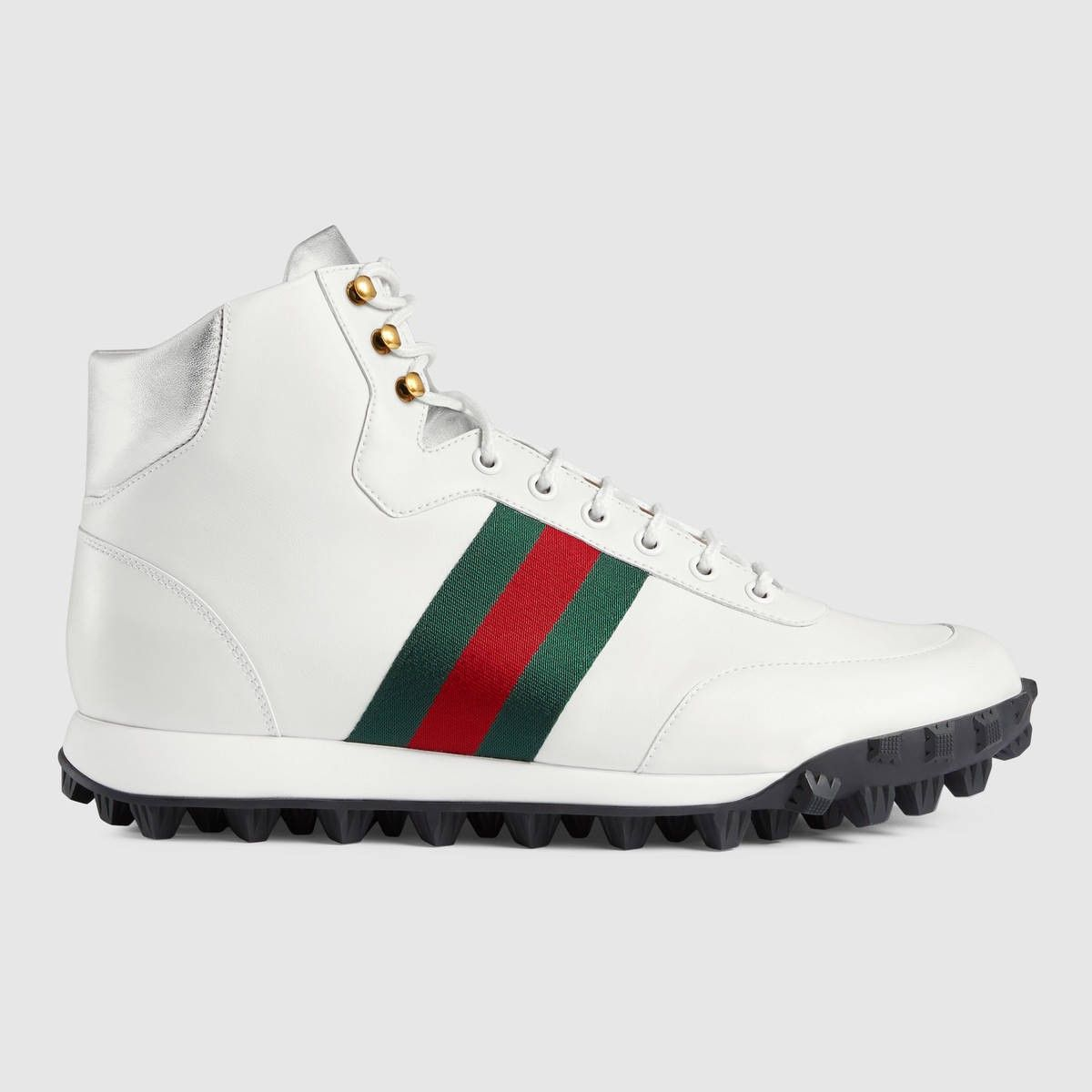 white leather gucci shoes