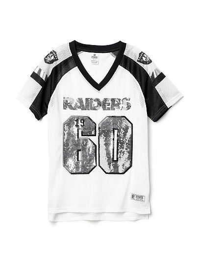 32ebb5e8 Oakland Raiders Bling V-neck Jersey PINK | Raiders Just win baby ...