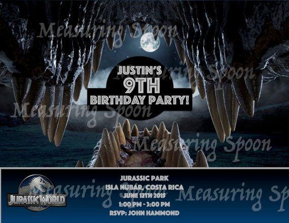 Jurassic World Birthday Invitations by EventfulThinkingCA on Etsy
