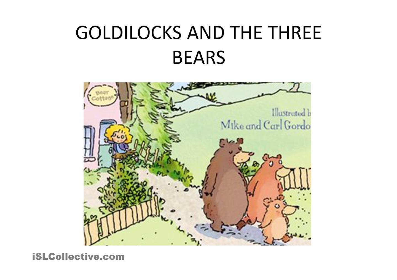 Story Goldilocks And 3 Bears