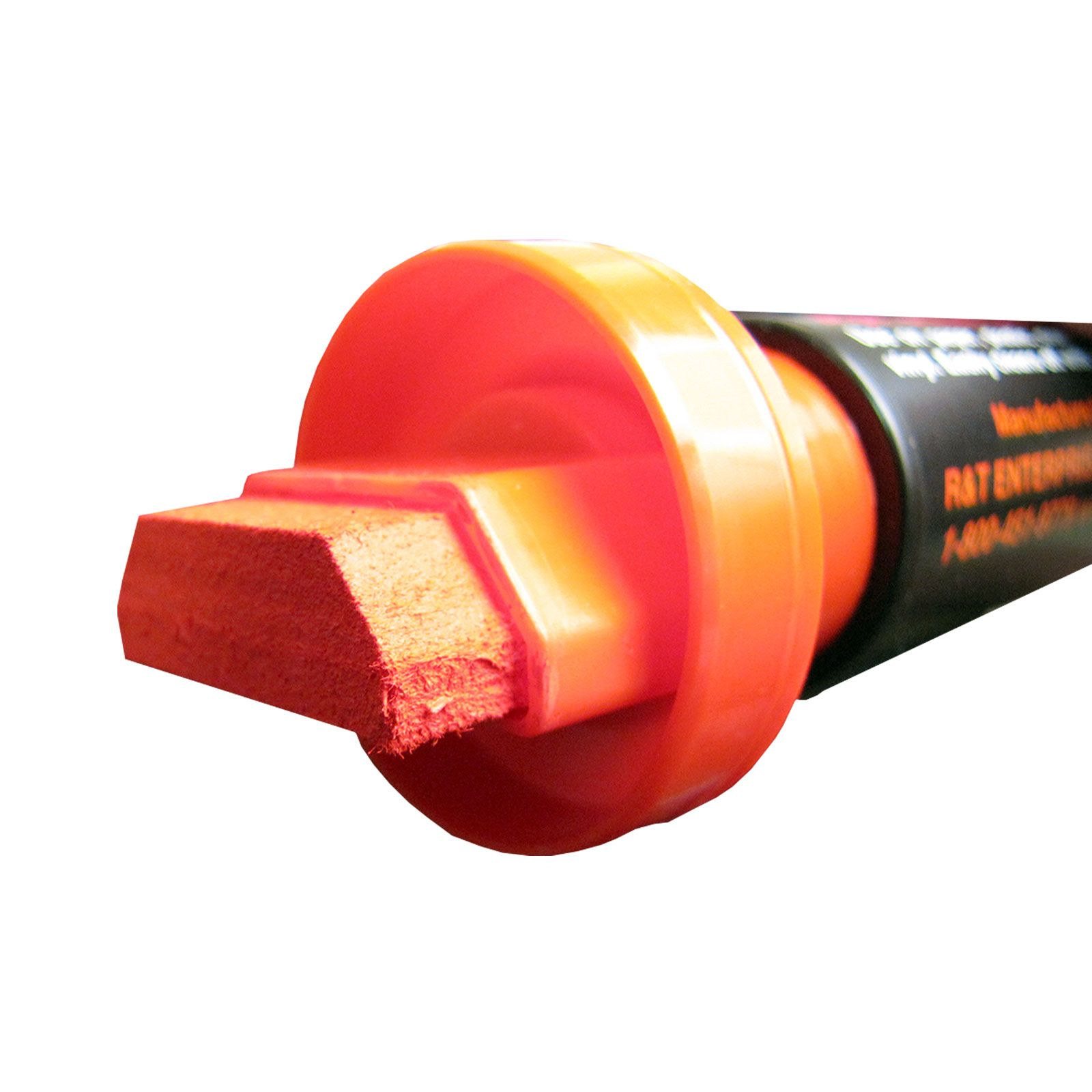 """Giant 1 1/4"""" Tip Neon Red Car Glass Marker. You can use these bright NeoMarker waterproof pens on a variety of surfaces, including acrylic boards, glass, stone, metal, plastic and most any other smooth surface."""