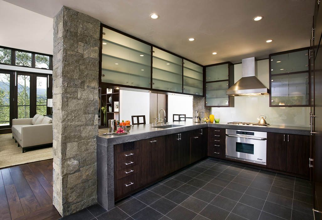 Contemporary Homes Modern Open Kitchen Mosaic Architects