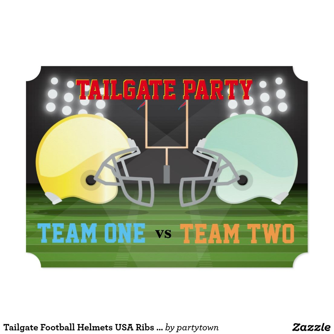 Create Your Own Invitation Zazzle Com With Images Football