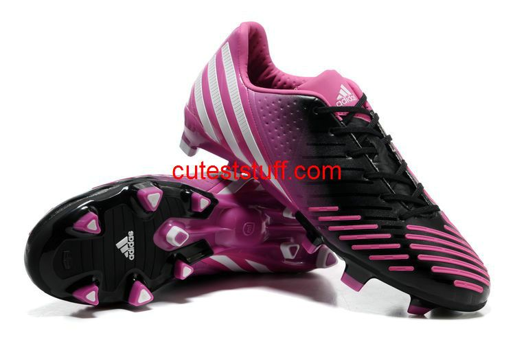 Adidas Predator LZ TRX FG Black Bright Cerise Pink  Red  Womens  Sneakers 190ccf6d61