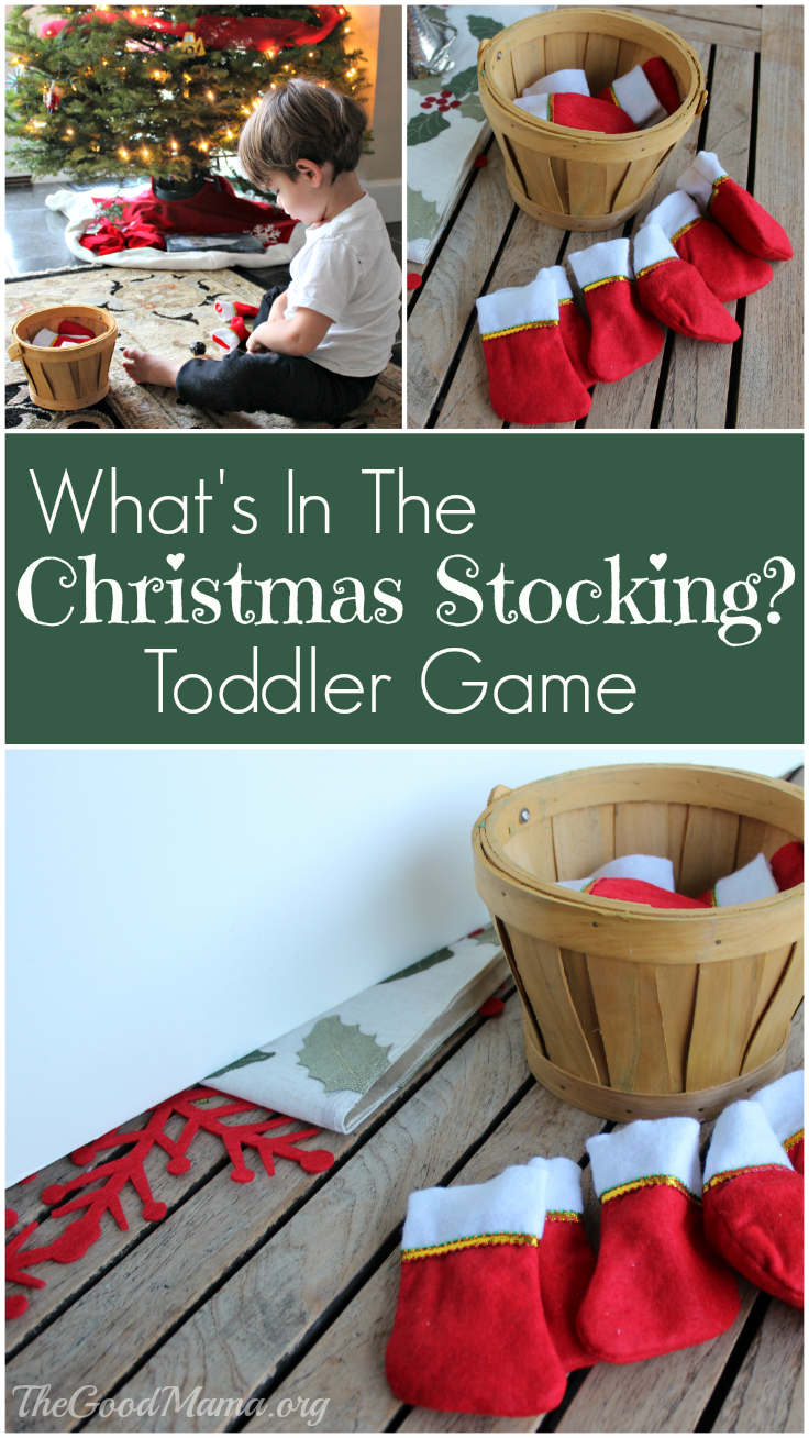 What's In The Christmas Stocking? Toddler Game Preschool