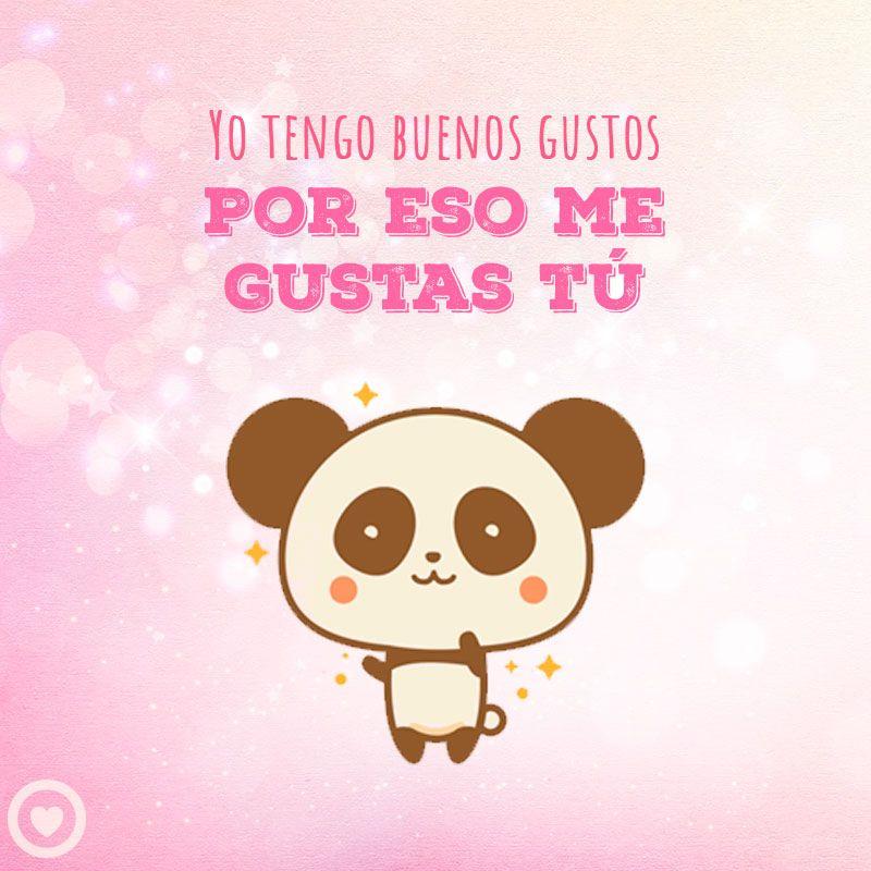 Imagen Kawaii De Lindo Panda Frases De Amor Imagenes Kawaii Y
