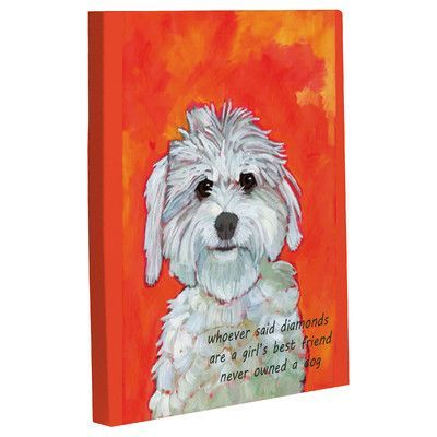 One Bella Casa Doggy Decor Girl S Best Friend Painting Print On Canvas Size 14 H X 11 W Products Best Friend Canvas Friend Canvas Canvas Art