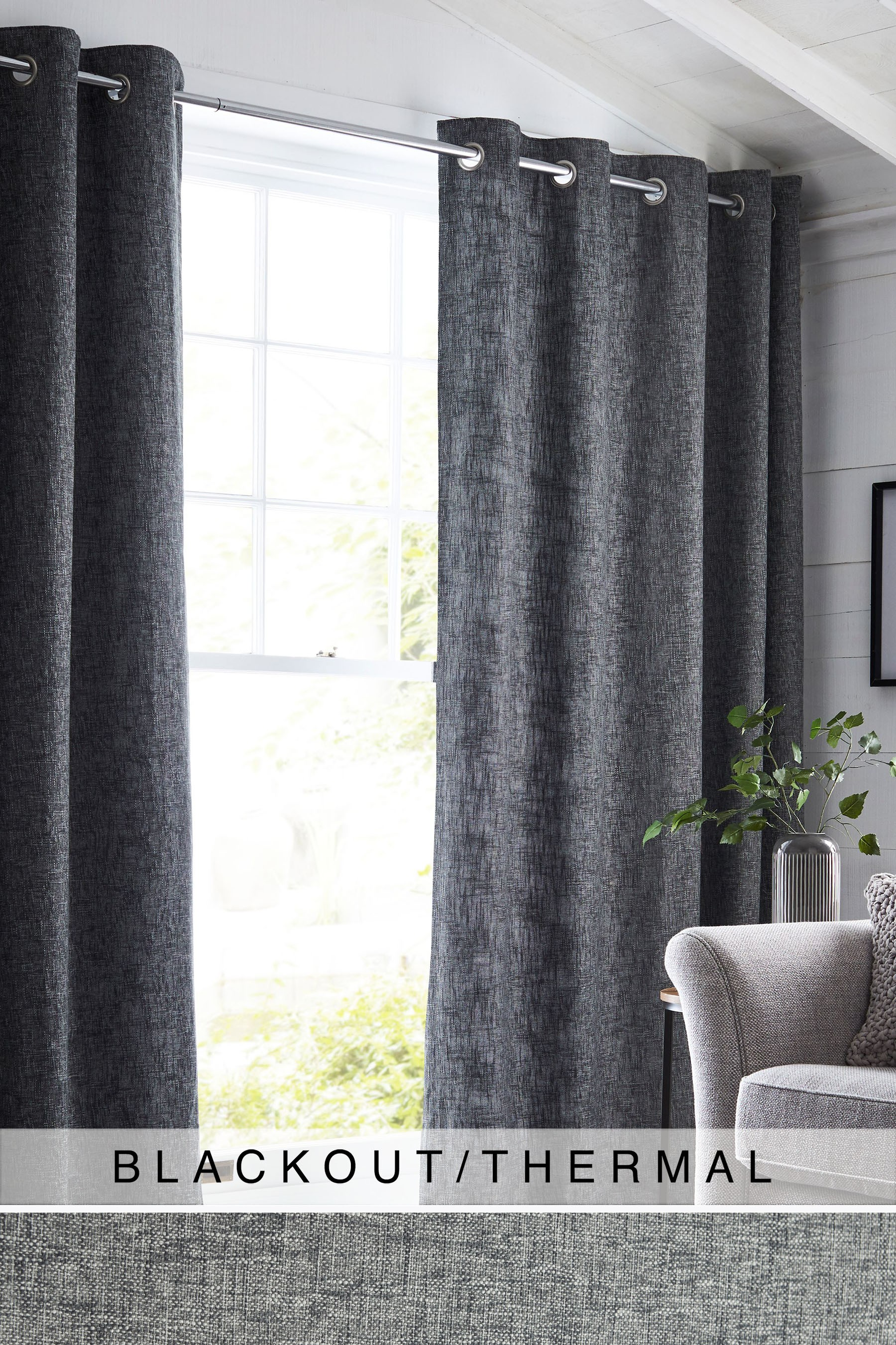 Grey Thermal Curtains Next Bouclé Eyelet Blackout Thermal Curtains Grey Products In