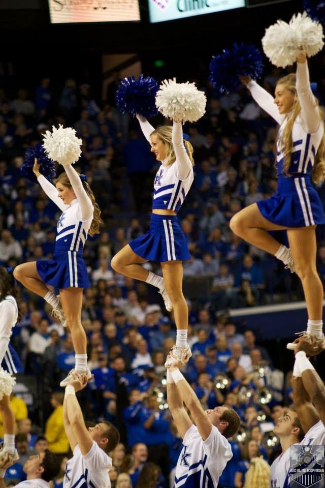 Kentucky Wildcats cheerleaders perform during the