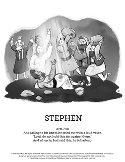 acts 7 the stoning of stephen sunday school coloring pages the