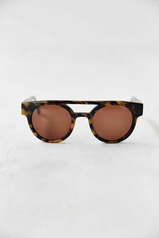 KOMONO CRAFTED Dreyfuss Tort Demi Sunglasses- Brown One $100.00